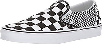 Vans Classic Slip-On - Mocasines unisex, color blanco (white and black checker/white), talla 46