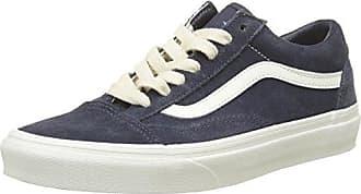 Unisex-Erwachsene Old Skool Suede Sneaker, Blau (Herringbone Lace/Navy/Marshmallow), 40.5 EU Vans