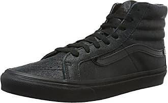 Vans Unisex-Erwachsene SK8-Hi Slim VA32R2 High-Top, Schwarz ((Patent Crackle) Black/Black), 39 EU