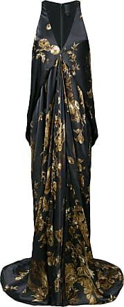 ormalu printed draped gown - Grey Vera Wang