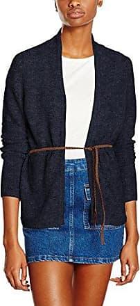 Vero Moda VMJOYA LS Belt Cardigan A, Chaqueta Punto Mujer, Azul (Navy Blazer), 40 (Talla del Fabricante: Large)