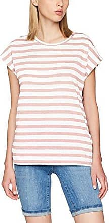 Mally - T-Shirt - À Rayures - Manches Courtes - Femme - Rose (Pearl/W Snow White/Neckline Col Snow White) - X-Small (Taille Fabricant: XS)Vero Moda