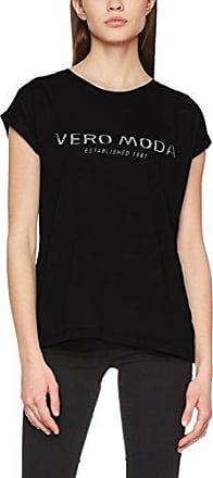 Vmvero Moda S/s Top Box Sb1, T-Shirt Femme, Bleu (Navy Blazer White Print Silver Studs), 38 (Taille Fabricant: Medium)Vero Moda