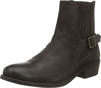 Vmjeanet Leather Boot, Zapatillas de Estar por Casa para Mujer, Marrón (Seal Brown), 38 EU Vero Moda