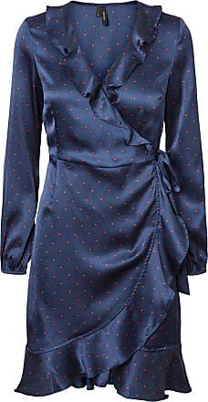 Henna Punkt Kleid Dames Blauw Vero Moda