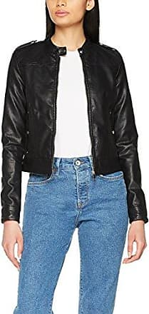 Vero Moda Vmchanine Short Pu Jacket Boos, Chaqueta para Mujer, Negro (Black Beauty Black Beauty), 34 (Talla del fabricante: X-Small)