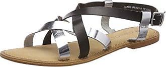 Vero Moda Vmthea Leather Sandal, Mocasines para Mujer, Gris (Silver), 41 EU