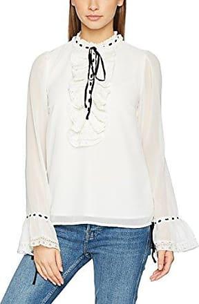 Vmsue Ella L/s Shirt Noos, Blouse Femme, Blanc (Snow White Snow White), 36 (Taille Fabricant: Small)Vero Moda