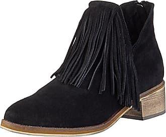 Vero Moda Vmlaure Leather Boot, Zapatillas de Estar Por Casa para Mujer, Negro-Negro, 37 EU