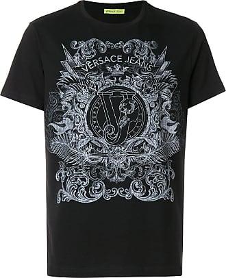 textured logo T-shirt - Black Versace Jeans Couture