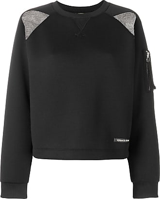 perforated detail sweatshirt - Black Versace Jeans Couture