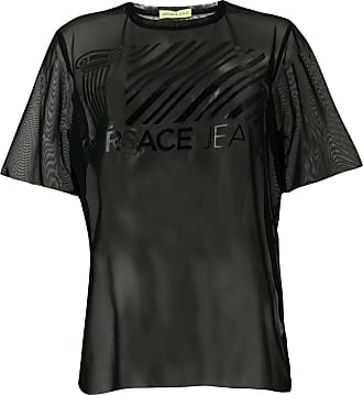 sheer T-shirt - Black Versace Jeans Couture