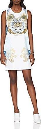 Jeans ED2HRA463 E36242, Robe Femme, Blanc (Bianco Ottico E003), MVersace