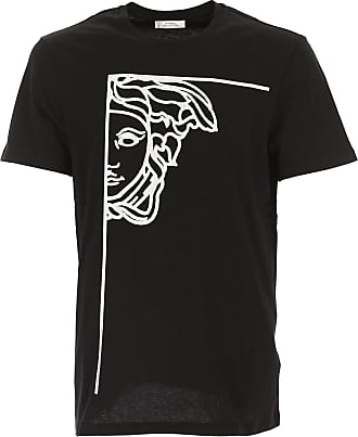 Camiseta de Hombre Baratos en Rebajas, 2 Pack, Negro, Algodon, 2017, L Versace