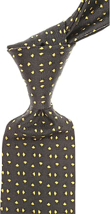 Ties On Sale, Dark Yellow, Silk, 2017, one size Versace