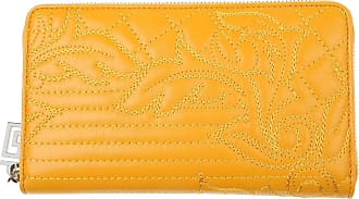 Womens Wallets On Sale, Yellow, Leather, 2017, One size Versace