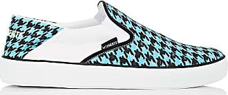 Mens Houndstooth Canvas Slip-On Sneakers VETEMENTS