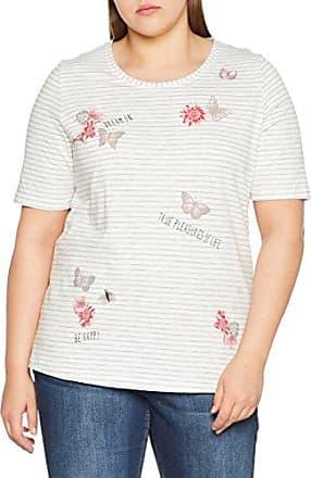 Via Appia Due T-Shirt V-Ausschnitt 1/2 Arm Motiv, Camiseta para Mujer, Azul (Stahlblau 850), 48