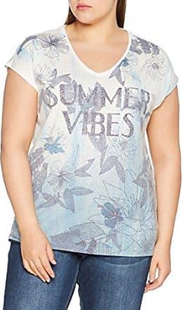 Via Appia Due T-Shirt V-Ausschnitt 1/2 Arm Druck Motiv, Camiseta para Mujer, Multicolor (Titan Multicolor 173), 46