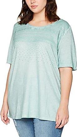 Nika Rundhals - T-Shirt - uni - Col Ras du Cou - Manches Courtes - Femme - Turquoise (Mint RH 0825) - 42 (Taille Fabricant: L)Madonna