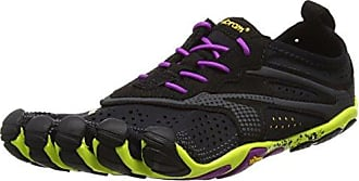 V-Run, Sneakers Basses Homme, Noir (Black/Yellow), 48 EUVibram Fivefingers