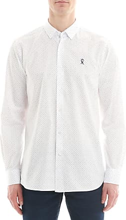 Chemise droite à empiècements contrastants Blanc Vicomte AVicomte A