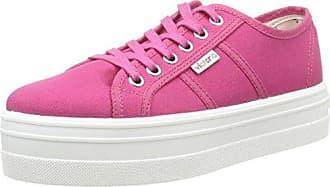 Victoria Deportivo Basket Piel - Zapatillas de Deporte Unisex, Color Rosa (Fucsia), Talla 37