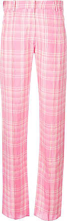 plaid straight leg trousers - Pink & Purple Victoria Beckham