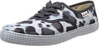 Victoria Inglesa Estamp Huella Tigre - Zapatillas de Deporte de Canvas para Mujer Gris Gris 37 xOawCcPGY