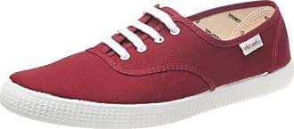 Inglesa Lona Detall Contrast - Zapatillas de deporte de tela para hombre Rojo Rouge (Coral) 35 Victoria