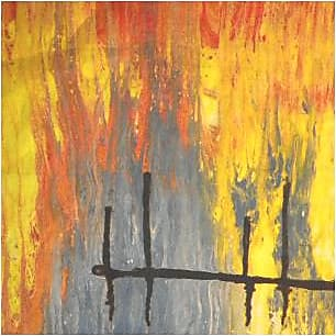 Mens Silk Pocket Square - Reflections On the Dock by VIDA VIDA
