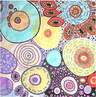 Silk Square Scarf - PASTELS by VIDA VIDA