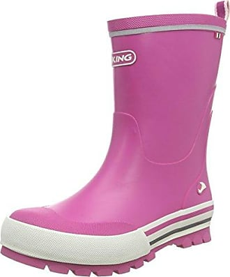 Viking Jolly, Unisex-Kinder Langschaft Gummistiefel, Pink (Fuchsia/White 1701), 23 EU