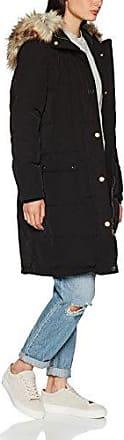 Vila Clothes Vicalifornia Down Coat-Noos, Abrigo para Mujer, Negro (Black Black), 36 (Talla del Fabricante: Small)