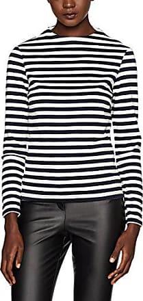 Clothes Vifaunas L/s High Neck Top-Fav, T-Shirt à Manches Longues Femme, Bleu (Total Eclipse Stripes:Snow White), 34 (Taille Fabricant: X-Small)Vila