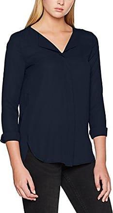 Vila Clothes 14041048, Blusa para Mujer, Azul (Total Eclipse), 36 (Talla del Fabricante: Small)
