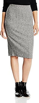 Nolas - Jupe - Crayon - Femme - Gris (grey Melange) - 34 (Taille fabricant:X-Small)Vila