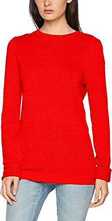 CLOTHES Vichassa L/s Knit Top-Fav, Pull Femme, Multicolore (Fiery Red), 40 (Taille Fabricant: Large)Vila