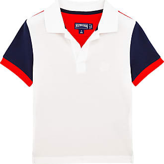 Boys Ready to Wear - Boys Cotton Pique Polo shirt Multicolor - POLO - PANTIN - White - 14 - Vilebrequin Vilebrequin