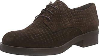 Dew - Zapatos Planos con Cordones Mujer, Color Marrón, Talla 39 Hotter