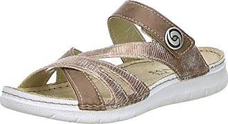 Vista Damen 69-EK036 Pantoletten, Braun (Braun/Metall), 36 EU