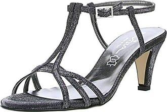 Vista Damen Zehentrenner Sandaletten Schwarz, Größe:41, Farbe:Schwarz