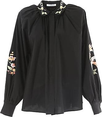 foliage print pussy bow blouse - Black Vivetta