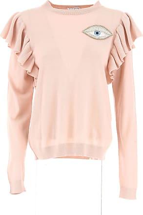Sweater for Women Jumper On Sale, Pink, Wool, 2017, 12 Vivetta
