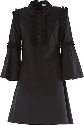 Dress for Women, Evening Cocktail Party On Sale, Black, Cotton, 2017, 12 Vivetta