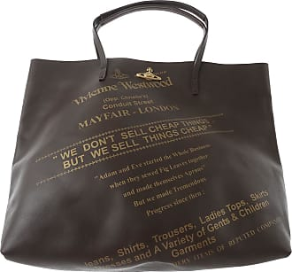 Tote Bag, Anglomania, Black, Leather, 2017, one size Vivienne Westwood