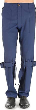 Pants for Men On Sale, Blue Melange, Virgin wool, 2017, 30 32 36 38 Vivienne Westwood