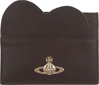Womens Pouch, Dark Brown, Leather, 2017, one size Vivienne Westwood