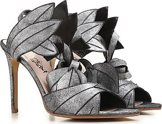 Sandals for Women On Sale, Silver Gray, Leather, 2017, USA 6 - EUR 37 USA 7 - EUR 38 Vivienne Westwood
