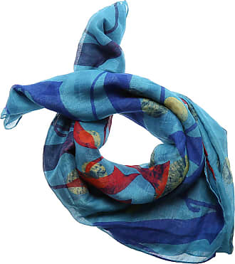 Scarf for Women, Blue, Wool, 2017, Universal Size Vivienne Westwood